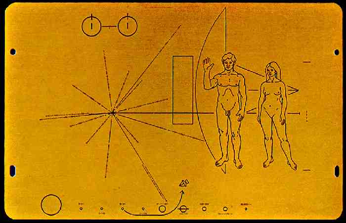 voyager 2 plaque diagram - photo #1