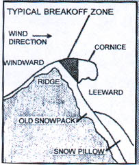 Cornices and Ice Avalanches