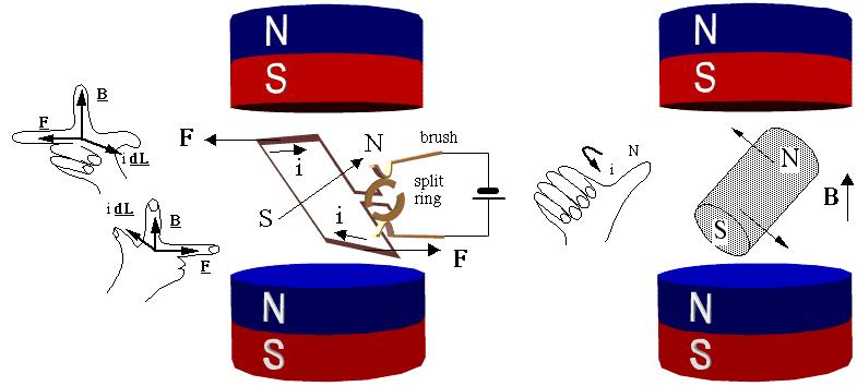 electric generator physics. basic generator physics physclips electric c