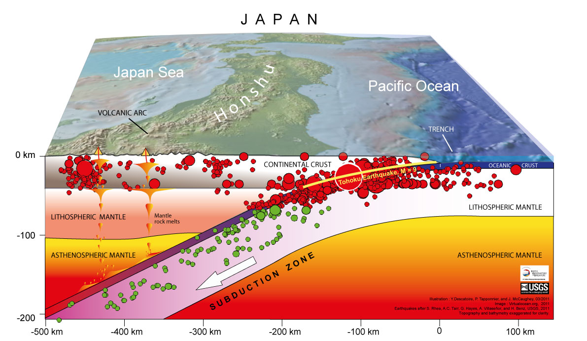 Page - Japan earthquake zone map